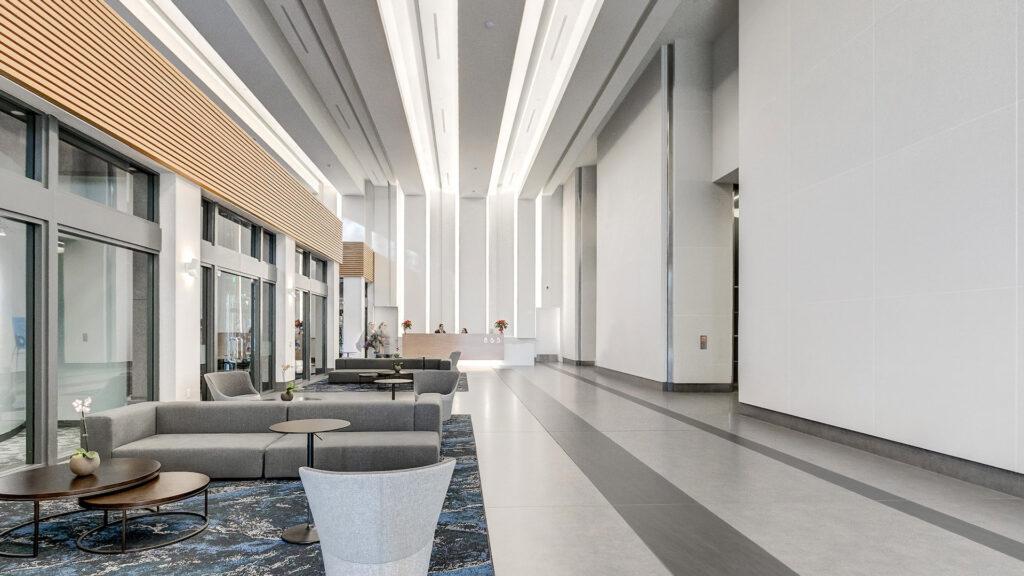 Lobby interior 865 S Figueroa St, Los Angeles